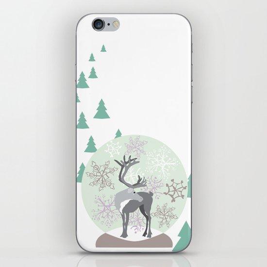Reindeer Snowglobe iPhone & iPod Skin