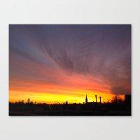 40 Foot Sunset Canvas Print