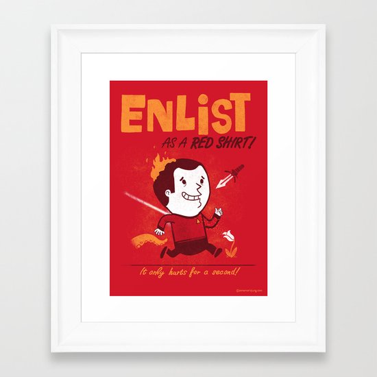 Enlist! Framed Art Print