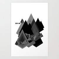 Mountains Inside Art Print