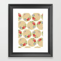 Vintage Saucers Framed Art Print
