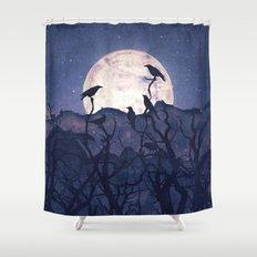 Midnight Chorus Shower Curtain