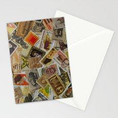 Vintage Postage Stamp Collection - Orange Stationery Cards