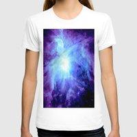 nebula T-shirts featuring NEBula Purple Periwinkle Blue by GalaxyDreams