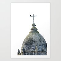 Mission Tower Carmel Art Print