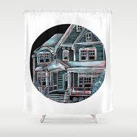 Home, Bright Home Shower Curtain