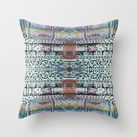 Digital Nepal #3 Throw Pillow