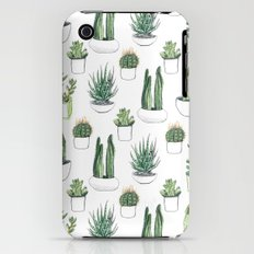 watercolour cacti and succulent iPhone (3g, 3gs) Slim Case
