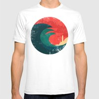 The Wild Ocean Mens Fitted Tee White SMALL