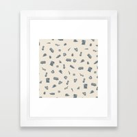 Sur la Plage Framed Art Print