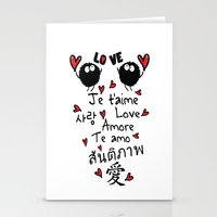 Love In Many Language Stationery Cards
