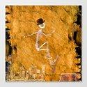 Monsieur Bone and his Skateboard Canvas Print