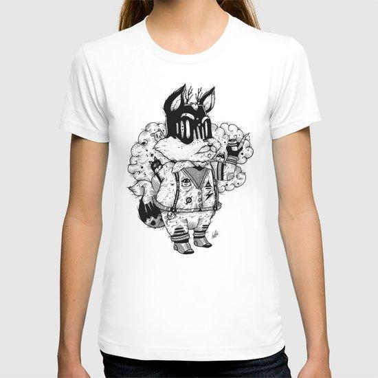 Watch & Learn Dear Creatures (Black & White Version) T-shirt
