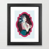 Cross My Heart Framed Art Print