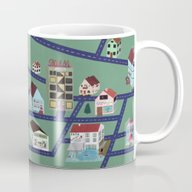 Little Town Pattern Mug