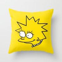 Little Lisa Throw Pillow