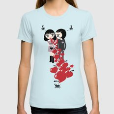 Lady & Lord Valentine's Womens Fitted Tee Light Blue SMALL