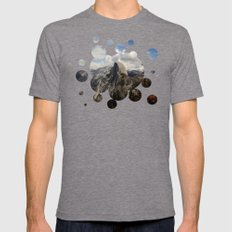 Up In The Mountains Mens Fitted Tee Tri-Grey SMALL