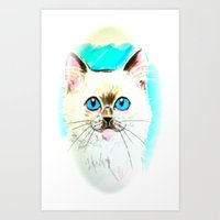 Kitty Art Print