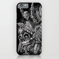 iPhone & iPod Case featuring Aztec Great Lizard Warrior 1 (Triceratops) by Jorge Garza