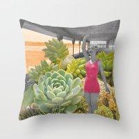 Plantes grasses Throw Pillow