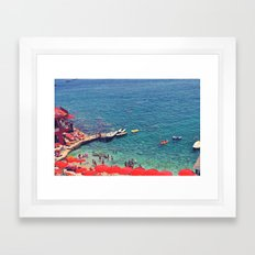 Summers in Capri are what dreams are made of. Framed Art Print