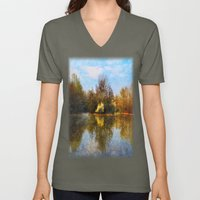 Autumn Lake Unisex V-Neck