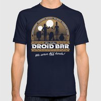 Droid Bar Mens Fitted Tee Navy SMALL