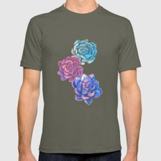 Vibrant Succulents  Mens Fitted Tee Lieutenant SMALL