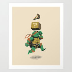 turtle power..up Art Print