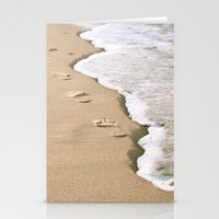 Footprints On The Beach Stationery Cards