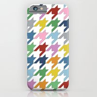 iPhone & iPod Case featuring Houndstooth Colour by Project M