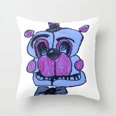 Funtime Freddy in crayon - FNAF Throw Pillow