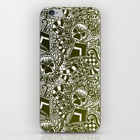 Theta Print-Black & Gold iPhone & iPod Skin