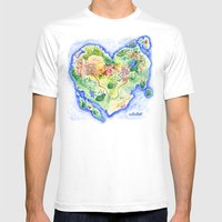 Island Of Love Mens Fitted Tee White SMALL