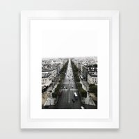 The Avenue des Champs-Elysees Framed Art Print
