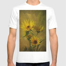 Let the Sun Shine Mens Fitted Tee White SMALL