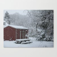 Canvas Print featuring Winter shed by Joy Reyes