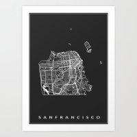 san francisco Art Prints featuring SAN FRANCISCO by Nicksman