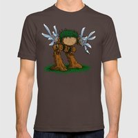 Ed Wood Scissor hands Mens Fitted Tee Brown SMALL