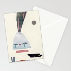 volacno and moon Stationery Cards