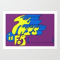 This Is For (blank). Art Print