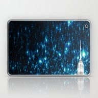 Starry Teal Night Laptop & iPad Skin
