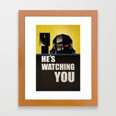 he's watching you. Framed Art Print