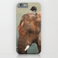 Brotherly- elephant and owl iPhone 6 Slim Case