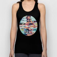 Glitch Pin-Up: Randi Unisex Tank Top