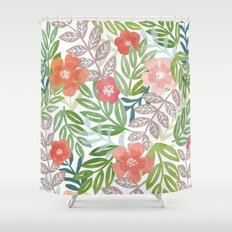 Tropical Bouquet Shower Curtain