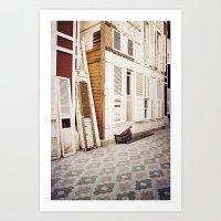wooden shutters Art Print