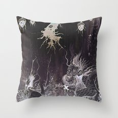 Black and White and a Rubin Throw Pillow