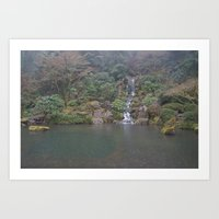 Zen Waterfall In Portlan… Art Print